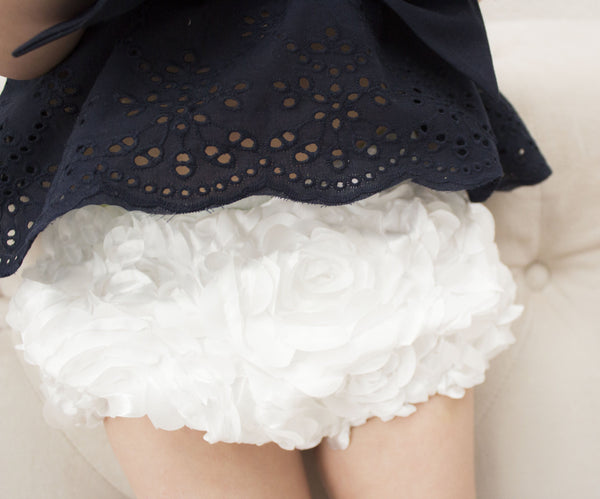 White Rosette Bloomers