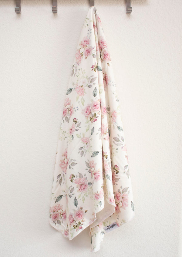 Sweet Roses Stretchy Knit Swaddle Blanket