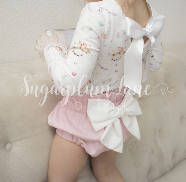 Pink Bow Bloomers