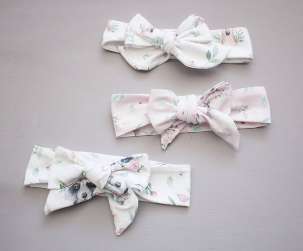 Spring Blossom Animal Bow Headband-Choose Your Color