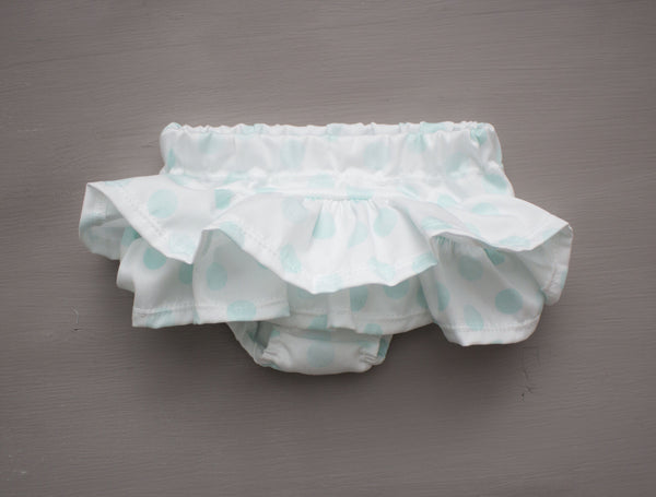 Blue Polka Dot Ruffle Bum Bloomers