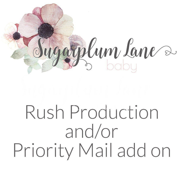 Rush Production and/or Priority Mail Option