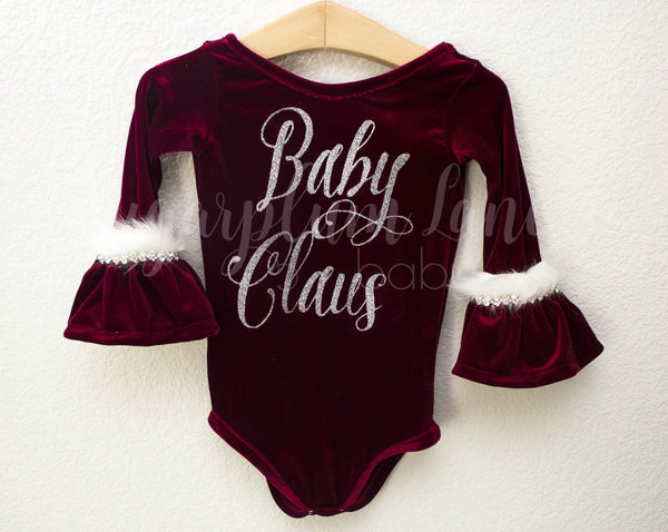 The Original Baby Claus Velvet Leotard ©