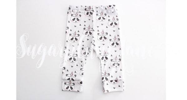 Panda w/Feather Leggings (Organic Cotton)