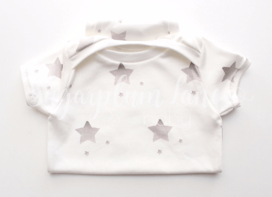 Star Gender Neutral Onesie (Organic Cotton) CHOOSE YOUR COLOR