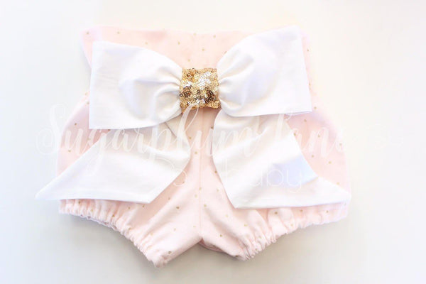Metallic Gold Dot High Waist Bloomers