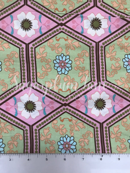 Copy of Pink and Green Boho Fabric By the Yard