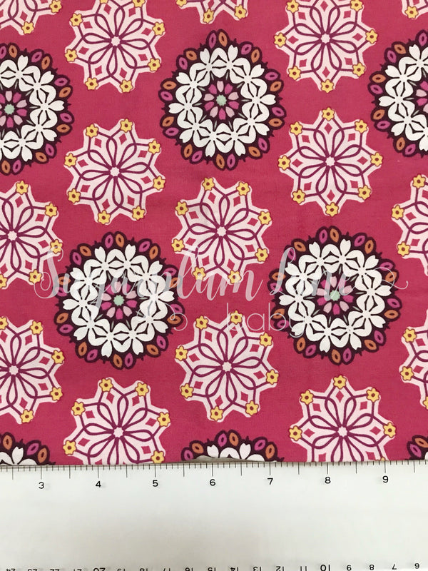 Pink Boho Fabric By the Yard