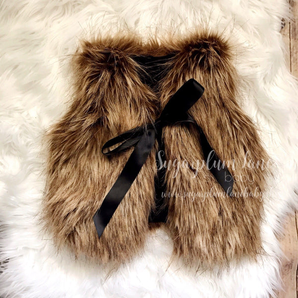 Brown Foxy Faux Fur Vest