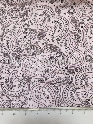 Light pink paisley Fabric By the Yard
