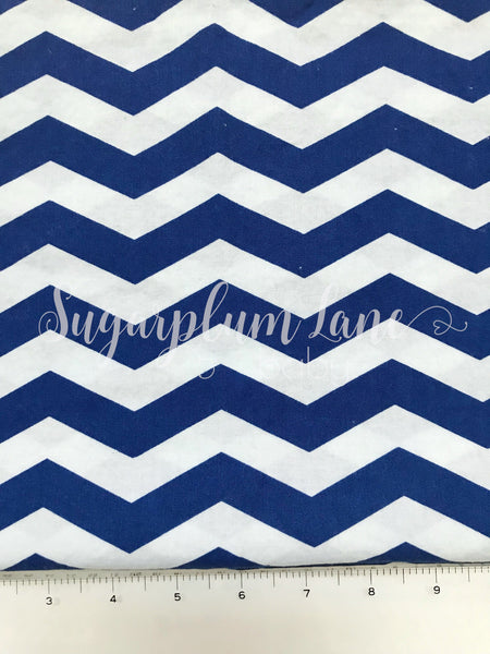 Dark blue zig zag Fabric By the Yard