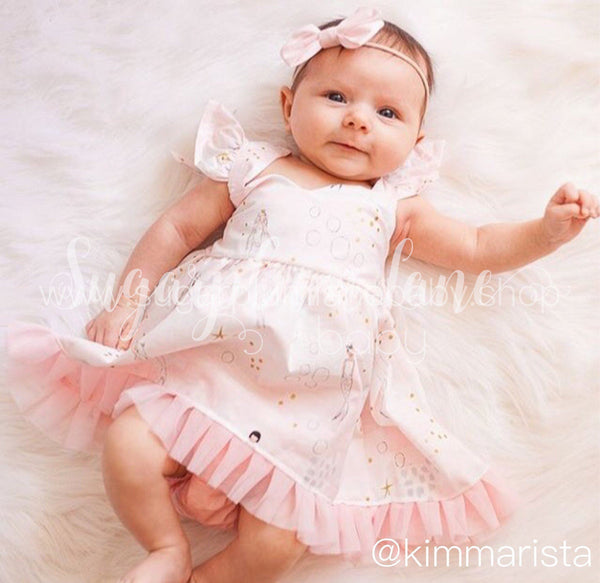 Pink Mermaid Dress for Babies and Toddlers