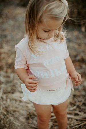 Blush Brave and Wild Crop Tee