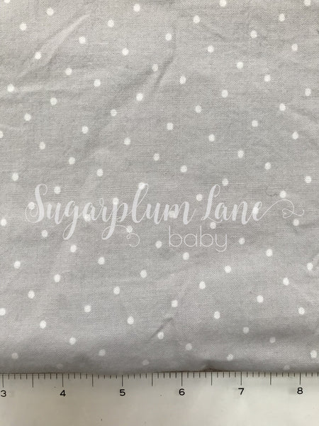 Grey with white pin dot Fabric By the Yard