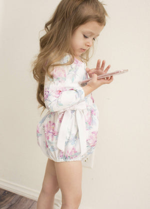 April Shower Long Sleeve Romper
