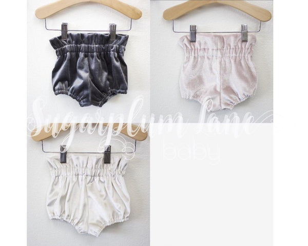 Velvet High Waist Ruffle Bloomers