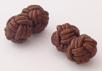 Dark Brown Silk Knots