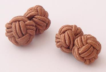 Copper Colored Silk Knots