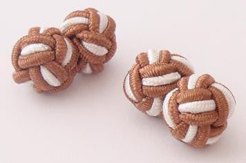 Copper Colored & White Silk Knots