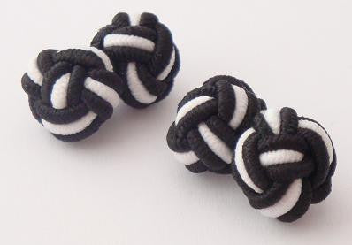 Black & White Silk Knots