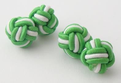 Green & White Silk Knots