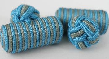 Blue & Gray Silk Barrels