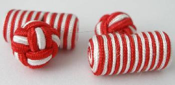 Deep Red & White Silk Barrels