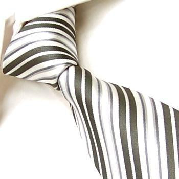 White with Silver & Gray Stripes