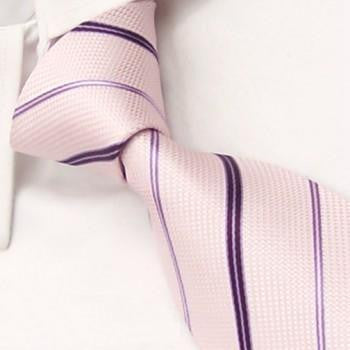 Cream with Purple Diagonal Stripes