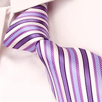 Purple and White Stripes
