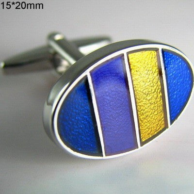 Blue, Yellow, Purple & Black Stripes