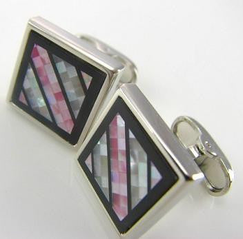 Abalone Stripes - Cufflinks