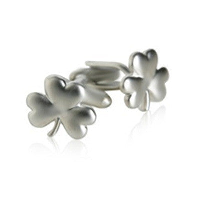Brushed Silver Clover
