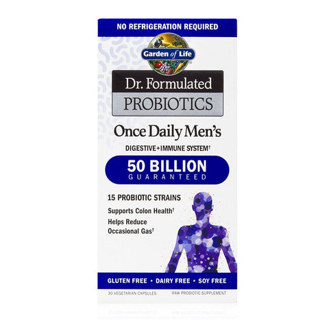 Dr Formulated Probiotic Once Daily Men 39 S 50 Billion Cfu Garden Of Life True To Health