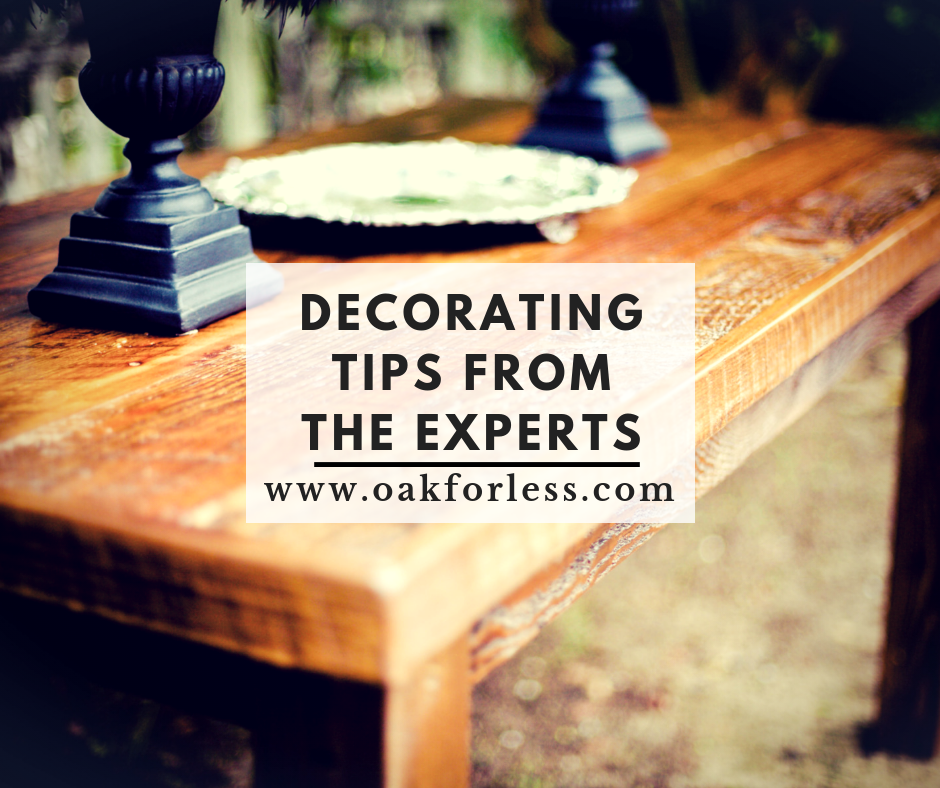 Decorating Tips from the Experts