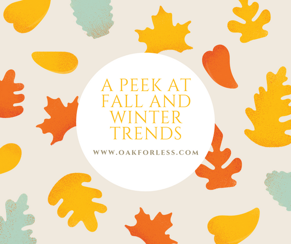 A Peek at Fall and Winter Trends