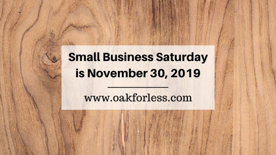 Small Business Saturday is November 30th 2019