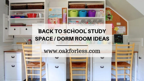 BACK TO SCHOOL STUDY SPACE / DORM ROOM IDEAS