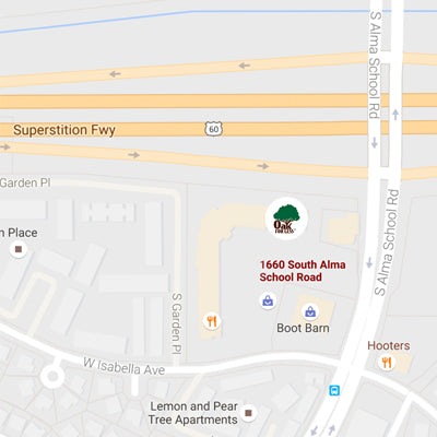 Oak For Less - Mesa location map