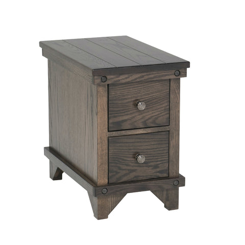 FA-Cedar Lakes Chairside Table with 2 Drawers Clearance