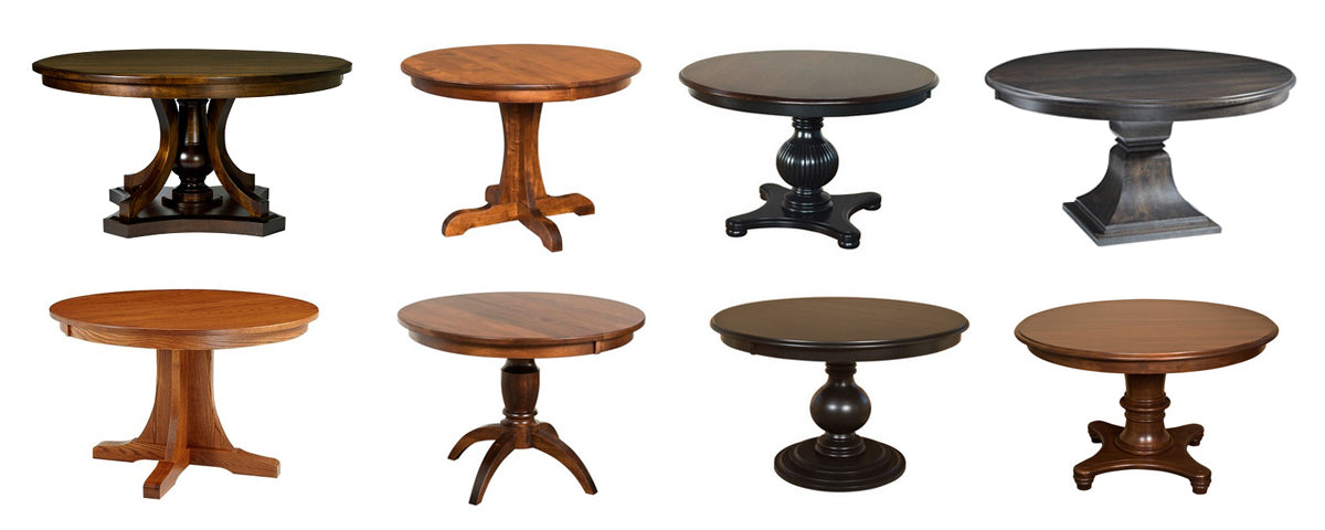 fusion amish made pedestal tables 1