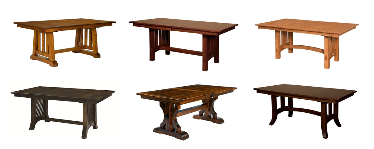 fusion amish made trestle tables