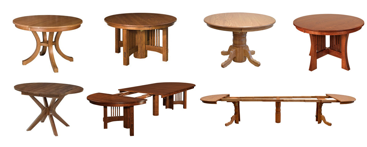 fusion amish made pedestal tables 2