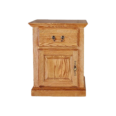 fd-2215D-T-golden Contemporary Oak Fully Enclosed End Table Clearance