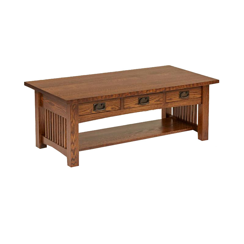 American Mission Quarter Sawn Oak Coffee Table - Oak For Less® Furniture