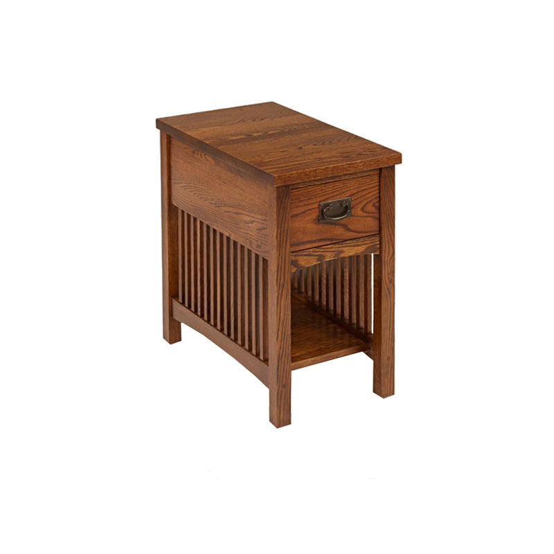 American Mission Quarter Sawn Oak Chairside Table - Oak For Less® Furniture