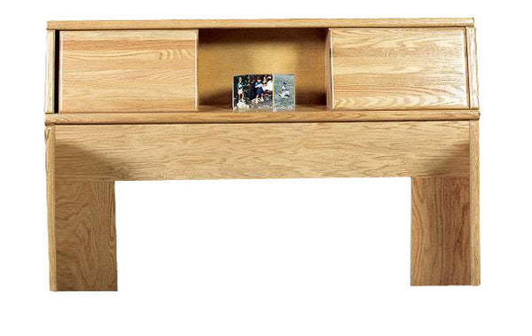 FD-3012 - Contemporary Oak Bookcase Headboard - Queen size - Oak For Less® Furniture