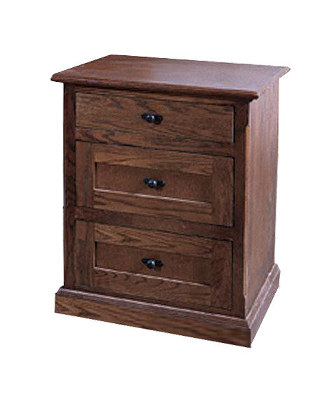 FD-3035M - Mission Oak 3 Drawer Nightstand - Oak For Less® Furniture