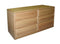 FD-3042 - Contemporary Oak 6 Drawer Dresser - Oak For Less® Furniture