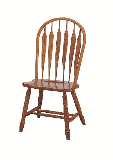GS-CL102W01E5 - Classic Oak Monarch Arrowback Side Chair - Oak For Less® Furniture